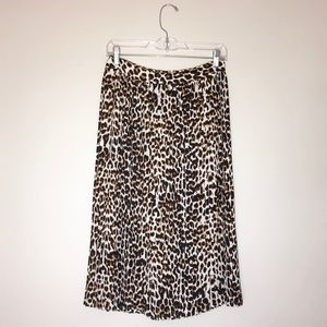 NWT Express   Cheetah midi skirt